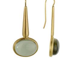 עגילי זהב ואבני חן mc 8112