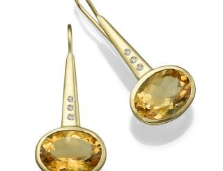 עגילי זהב ואבני חן mc 8134