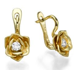 עגילי זהב ויהלומים mc8146