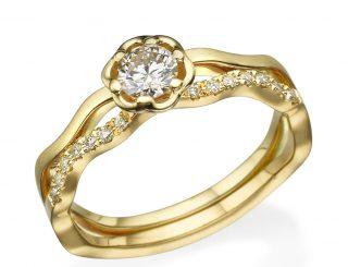 טבעות אירוסין זהב צהוב rmc 7014