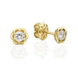 עגילי זהב ויהלומים mc8150y