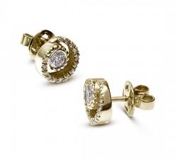 עגילי זהב ויהלומים mc8111y