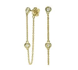 עגילי זהב ויהלומים mc8157
