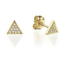עגילי זהב ויהלומים mc8223